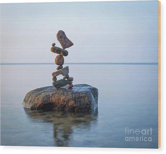 Zen Stack #9 Wood Print