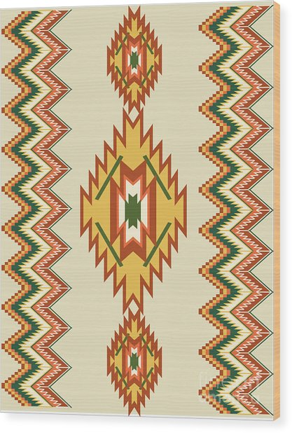 Native American Rug Wood Print