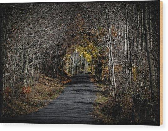 Natural Tunnel - Roxbury, New York Wood Print