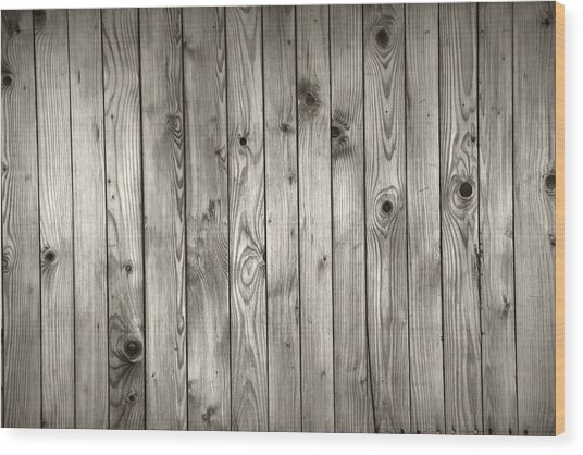Natural Wooden Background Wood Print
