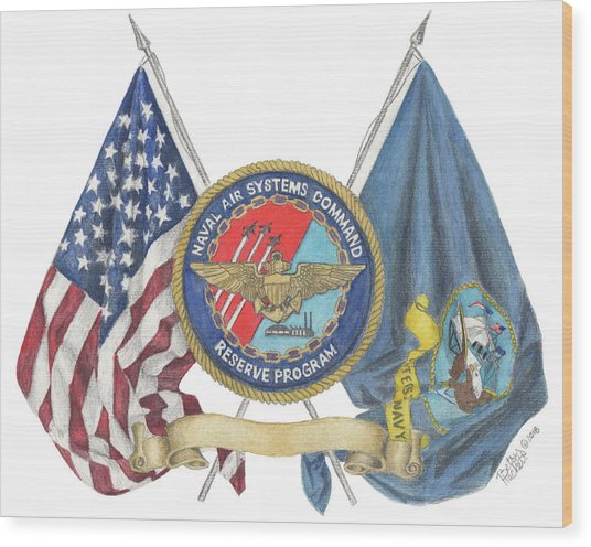 Naval Air Systems Command Reserve Program Wood Print