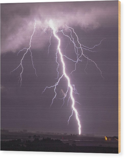 Nebraska Arcus And Lightning 046 Wood Print