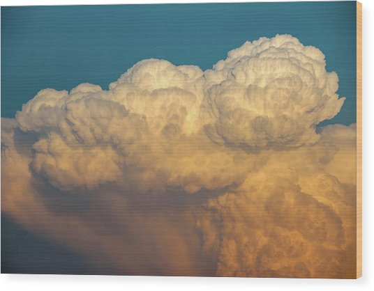 Nebraska Sunset Thunderheads 053 Wood Print