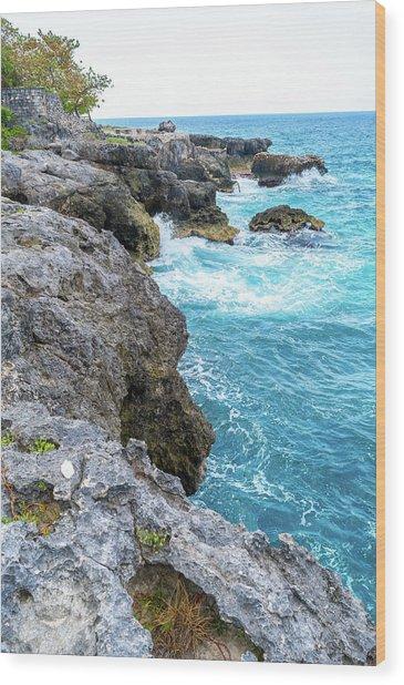 Negril Jamaica Cliffs Wood Print