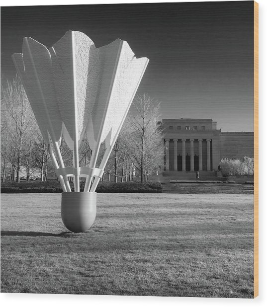 Nelson Atkins Art Museum In Infrared - Kansas City - Square Wood Print