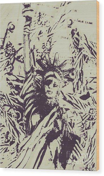 Neoclassical Lady Landmark Wood Print