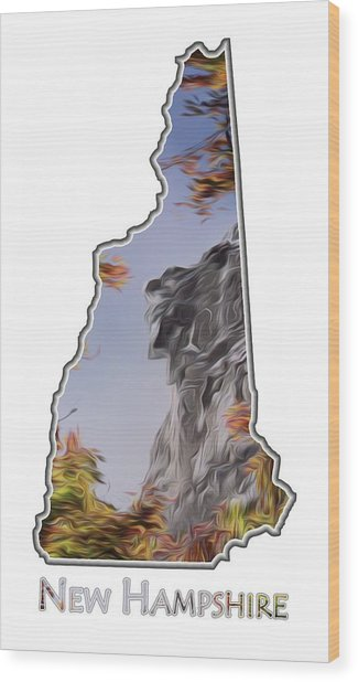 New Hampshire Old Man Logo Transparency Wood Print