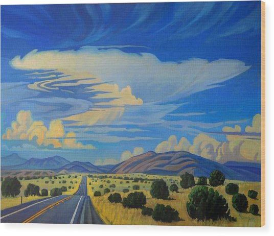 New Mexico Cloud Patterns Wood Print