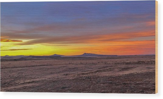 Wood Print featuring the photograph New Mexico Sunrise by Rand
