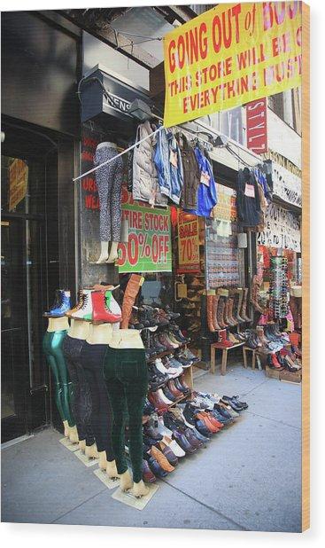 New York City Shoe Shop 2013 Wood Print
