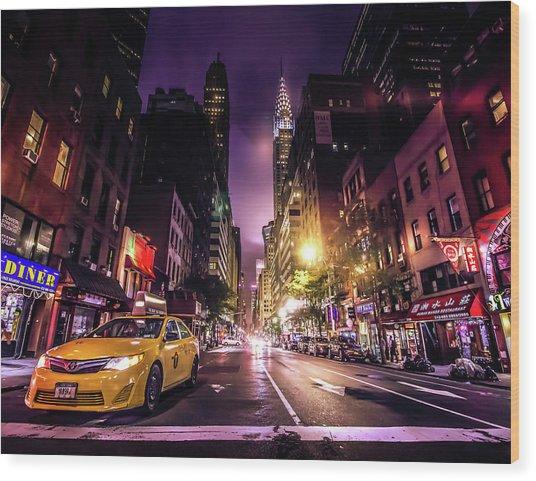 New York City Street Wood Print