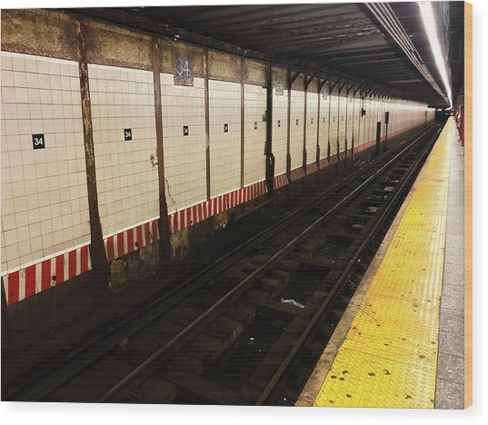 New York City Subway Line Wood Print