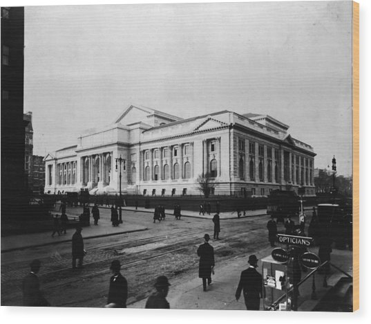 New York Public Library Main Branch Wood Print by Fpg