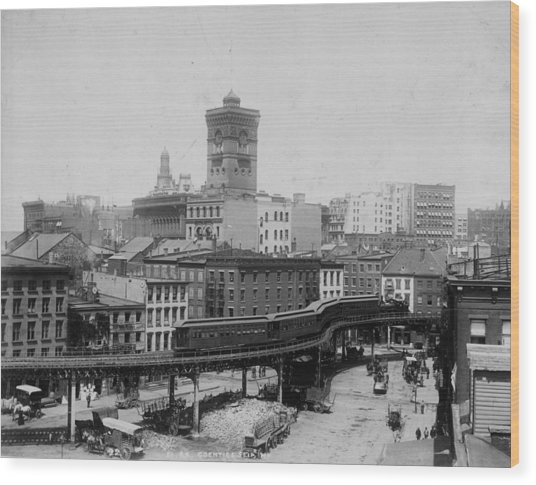 New York Train Wood Print by Hulton Archive