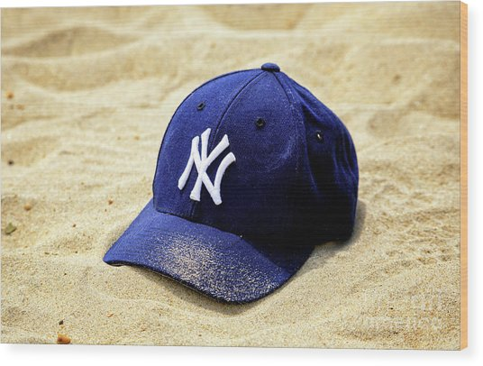 New York Yankees Beach Cap Wood Print