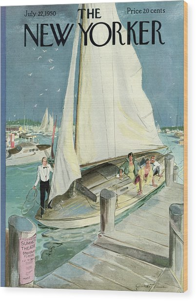 New Yorker Cover - July 22, 1950 Wood Print