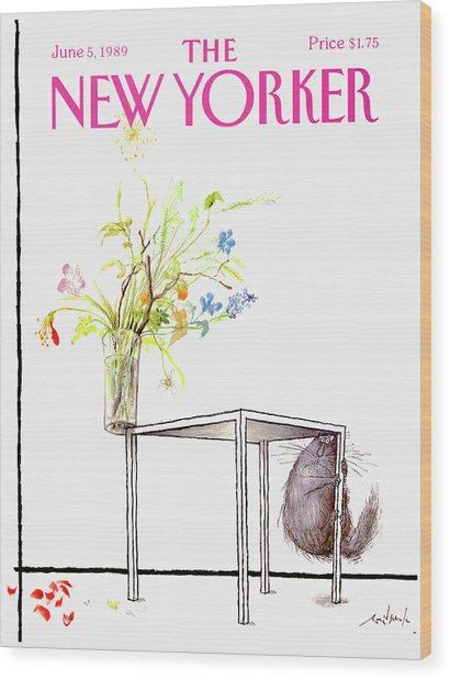New Yorker Cover June 5 1989 Wood Print