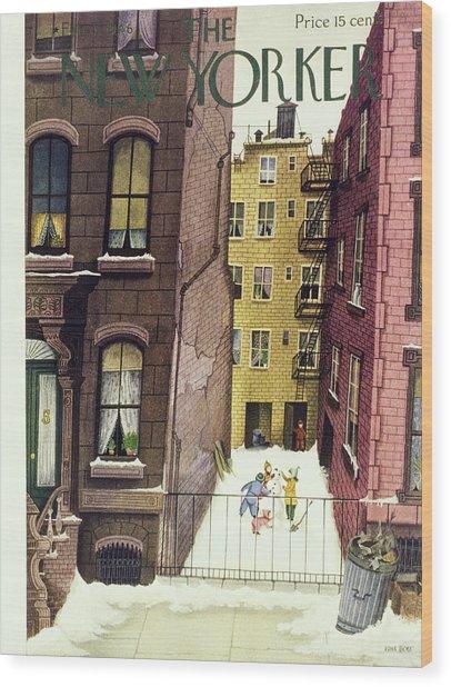 New Yorker February 2nd 1946 Wood Print