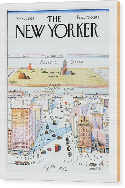 New Yorker March 29, 1976 Wood Print