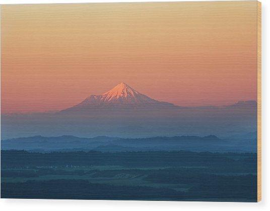 New Zealand, Mount Taranaki Wood Print by Frans Lemmens