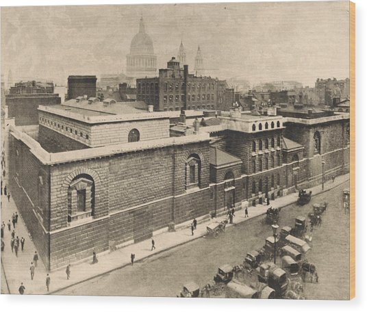 Newgate Prison Wood Print by General Photographic Agency
