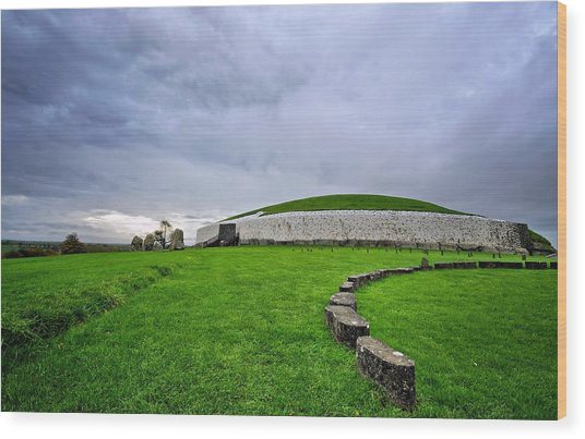 Newgrange Megalithic Passage Tomb Wood Print by Michelle Mcmahon