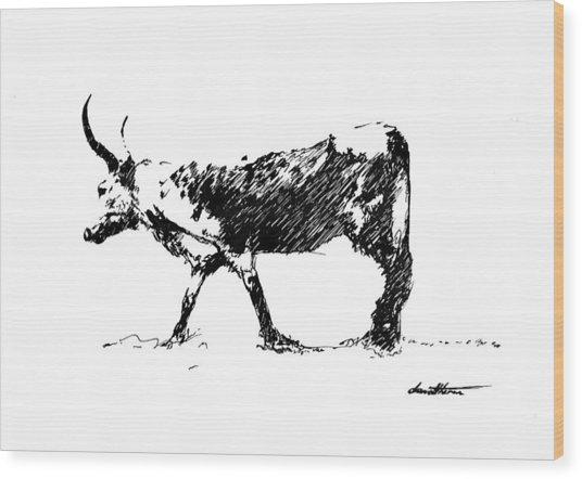 Nguni 01 Wood Print