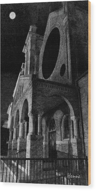 Night Church Wood Print