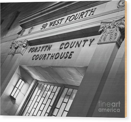 Wood Print featuring the photograph Night Court by Patrick M Lynch