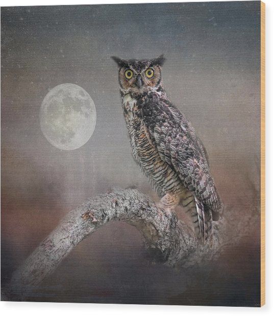 Night Spirit Wood Print
