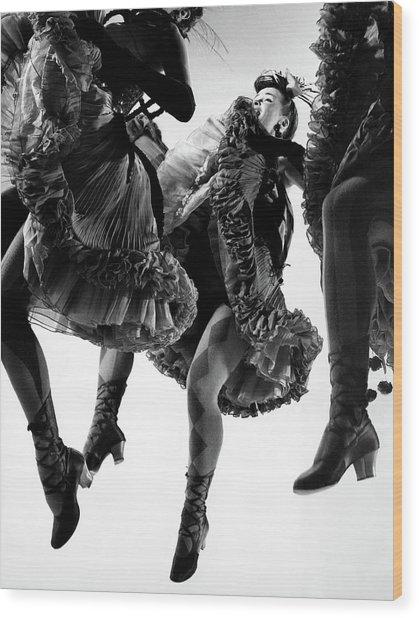 Nightmare Ballet In Original Oklahoma On Broadway Wood Print by Gjon Mili