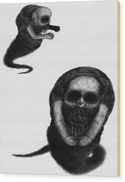 Nightmare Chewer - Artwork Wood Print