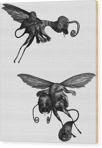 Nightmare Stinger - Artwork Wood Print