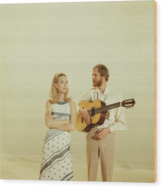 Nina And Frederik Perform On Tv Show Wood Print by David Redfern