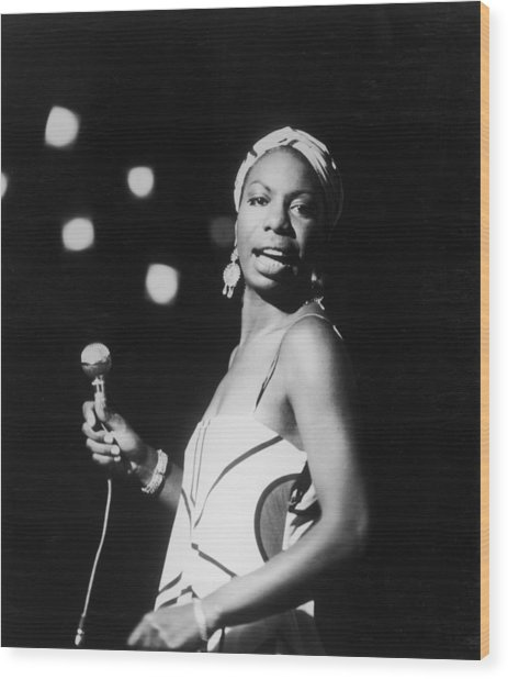 Nina In Concert Wood Print by Hulton Archive