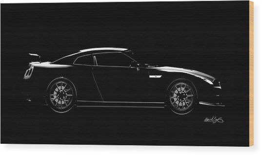 Nissan Gtr Wood Print