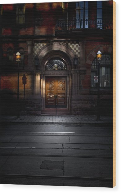 Wood Print featuring the photograph No 107 Wellington St W Toronto Canada Color Version by Brian Carson