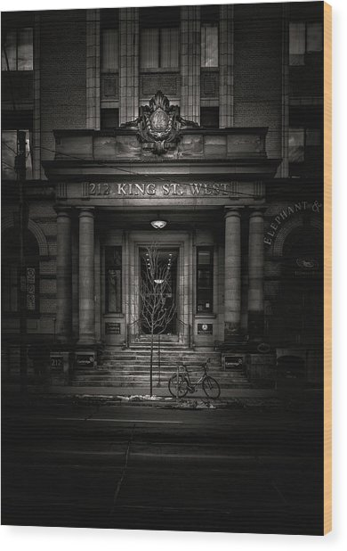 Wood Print featuring the photograph No 212 King Street West Toronto Canada by Brian Carson