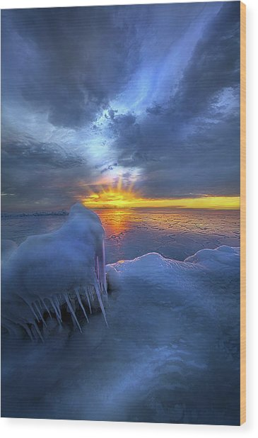 Wood Print featuring the photograph No Winter Skips Its Turn. by Phil Koch