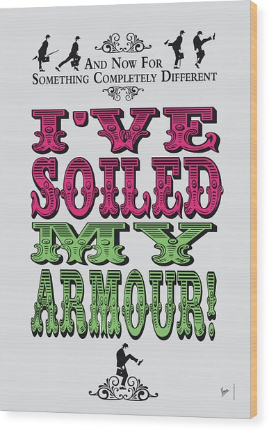 No03 My Silly Quote Poster Wood Print