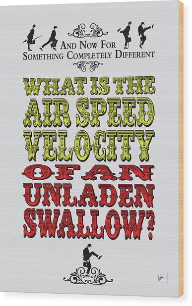 No14 My Silly Quote Poster Wood Print