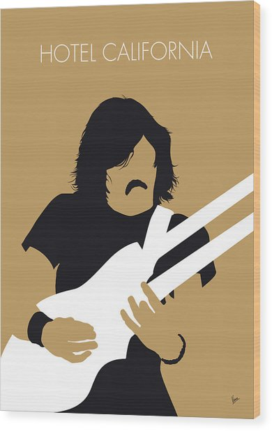 No230 My The Eagles Minimal Music Poster Wood Print