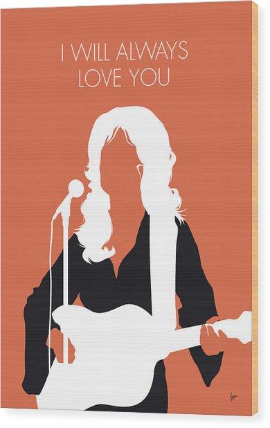 No273 My Dolly Parton Minimal Music Poster Wood Print