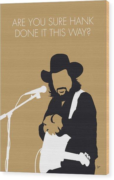 No280 My Waylon Jennings Minimal Music Poster Wood Print