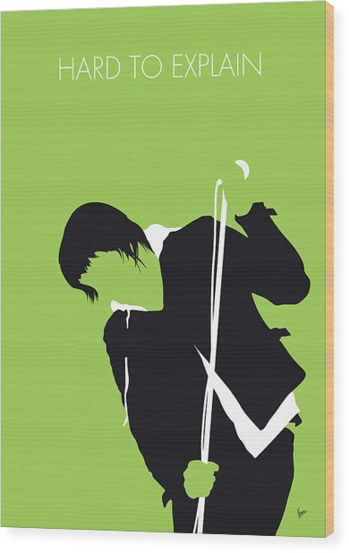 No286 My The Strokes Minimal Music Poster Wood Print