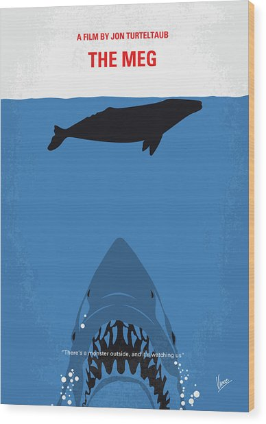 No985 My Meg Minimal Movie Poster Wood Print