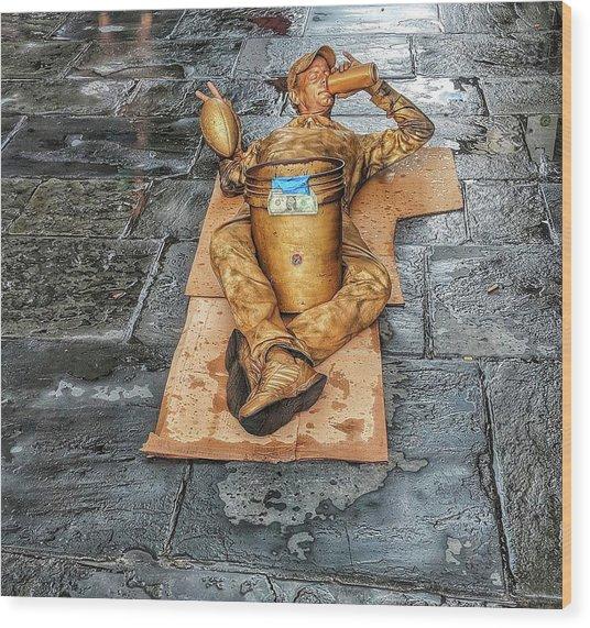 Nola Street Art Alive  Wood Print