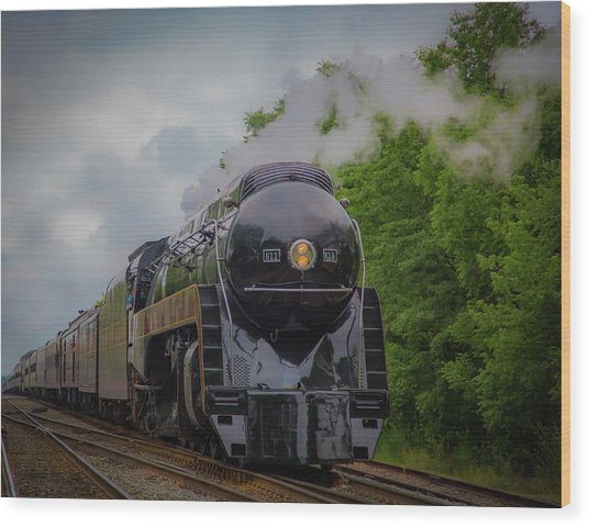 Norfolk And Western 611 Wood Print