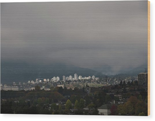 North Vancouver Wood Print