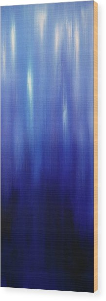 Northern Lights Oilpainting Wood Print